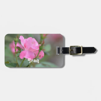 Pastel Pink Rose in Iraq Bag Tag
