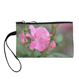 Pastel Pink Rose in Iraq Coin Purses