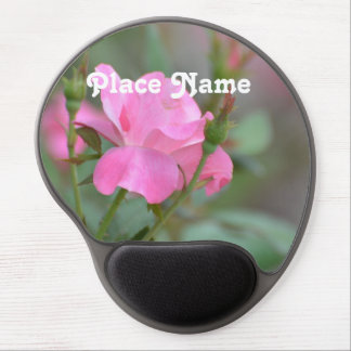 Pastel Pink Rose in Iraq Gel Mouse Pad