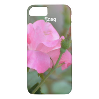 Pastel Pink Rose in Iraq iPhone 7 Case