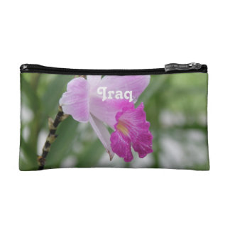 Pastel Pink Rose in Iraq Makeup Bags