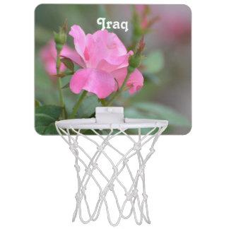 Pastel Pink Rose in Iraq Mini Basketball Hoop