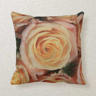 Pastel pink rose pillowm double sided cushion