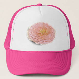 Pastel Pink Rose Trucker Hat