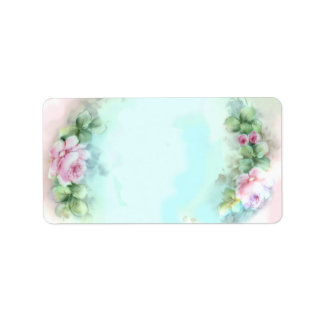 Pastel Pink Roses Labels