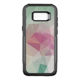 Pastel Pink Soft Green Abstract Pyramid Pattern OtterBox Commuter Samsung Galaxy S8+ Case