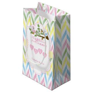 Pastel Pink Squirrel Design Sm - Baby Boy Shower Small Gift Bag