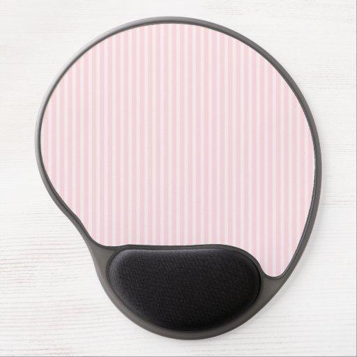 Pastel Pink Stripes. Gel Mouse Pads