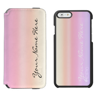 Pastel Pink Taffy Ombre Gradient Kawaii Incipio Watson™ iPhone 6 Wallet Case