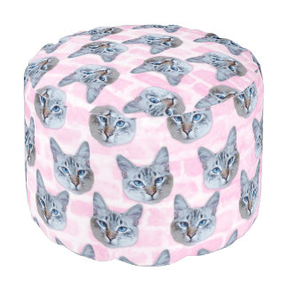 Pastel Pink Tito Cat Pouf