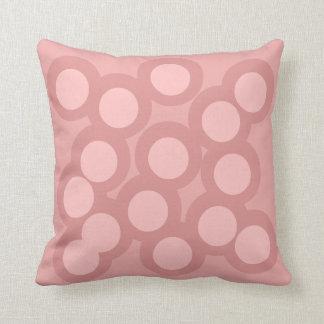 Pastel Pinks Pillow/Cushion Vers 2 Circles Cushion