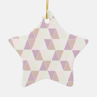 Pastel Pinks Triangle Ceramic Star Decoration