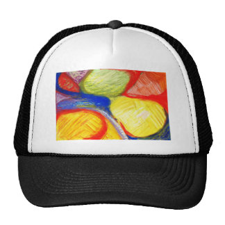 Pastel Playing Fields (abstract expressionism) Cap