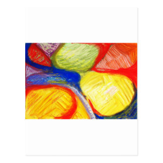 Pastel Playing Fields (abstract expressionism) Postcard