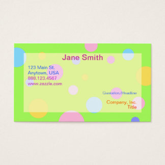 Pastel Polka Business Cards