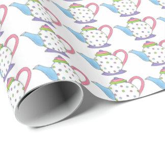 Pastel Polka Dot Tea Party Tea Pot Teapots Paper