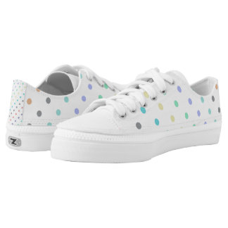 Pastel Polka Dot ZipZ Tennis Shoes