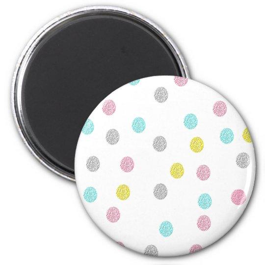 Pastel Polka Dots 6 Cm Round Magnet