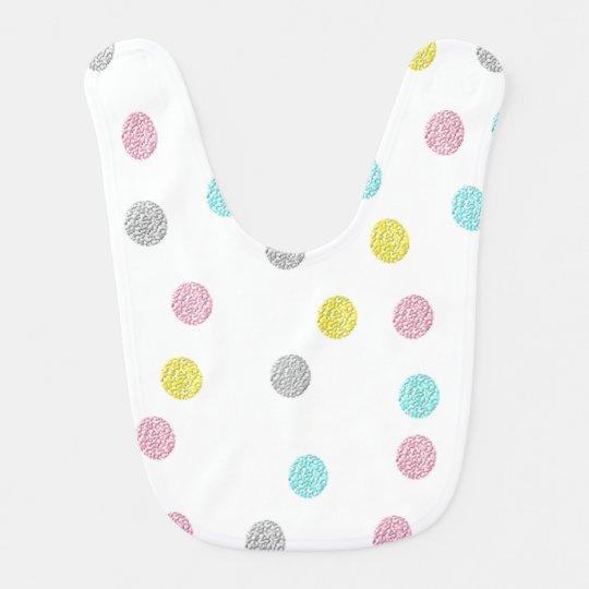 Pastel Polka Dots Baby Bibs