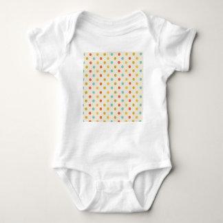 Pastel polka-dots baby bodysuit