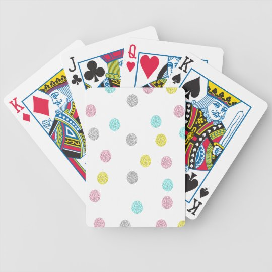 Pastel Polka Dots Bicycle Playing Cards