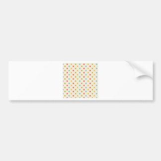 Pastel polka-dots bumper sticker