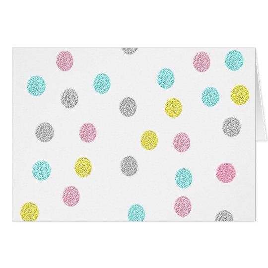 Pastel Polka Dots Card