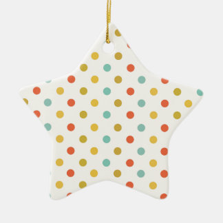 Pastel polka-dots ceramic ornament