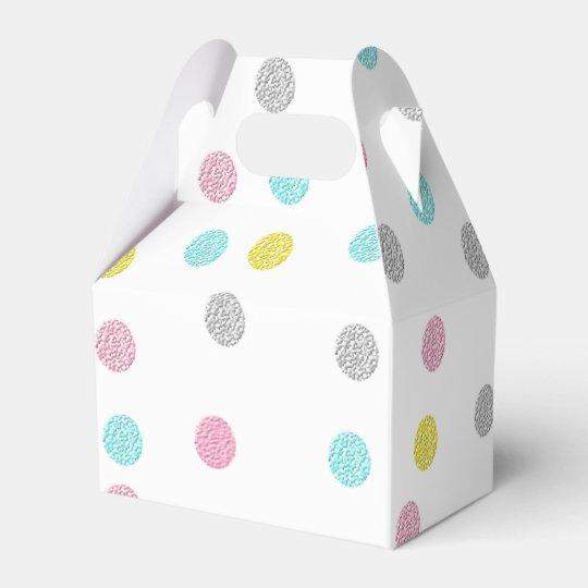 Pastel Polka Dots Favour Boxes