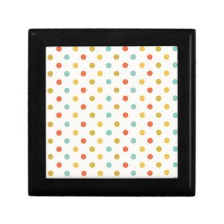 Pastel polka-dots gift box