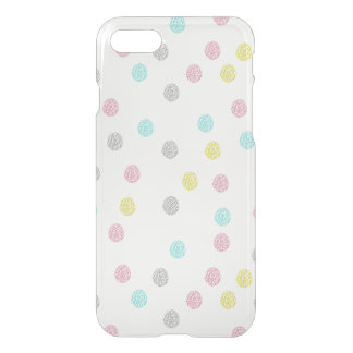 Pastel Polka Dots iPhone7 Clear Case