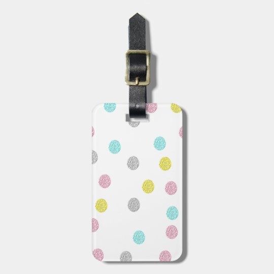 Pastel Polka Dots Luggage Tag