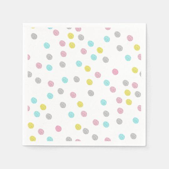 Pastel Polka Dots Paper Napkin