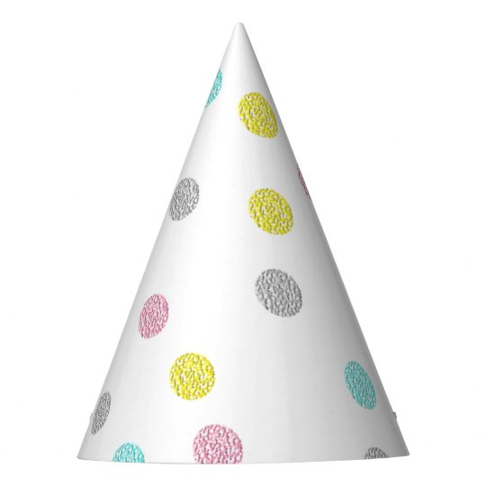 Pastel Polka Dots Party Hat