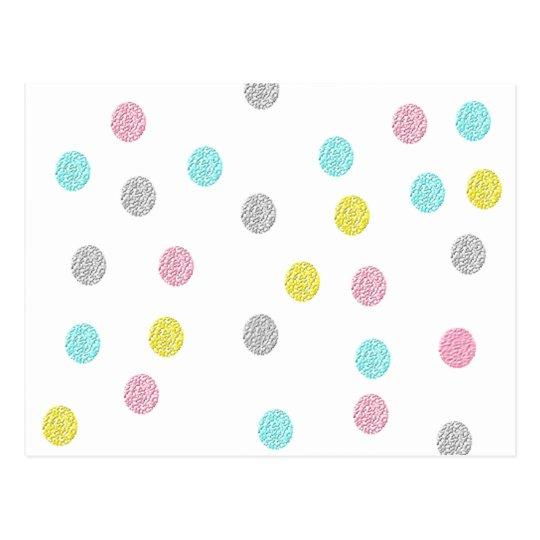 Pastel Polka Dots Postcard