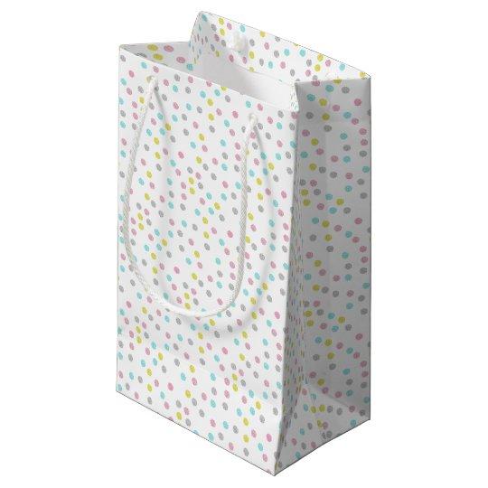 Pastel Polka Dots Small Gift Bag