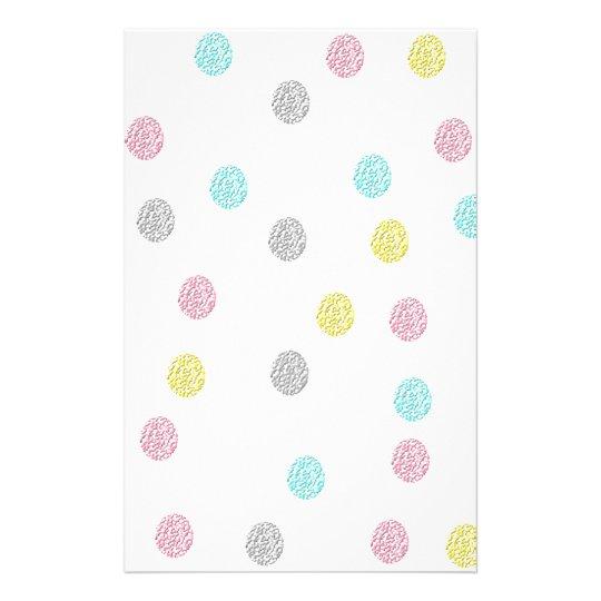 Pastel Polka Dots Stationery