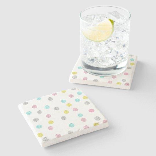 Pastel Polka Dots Stone Coaster