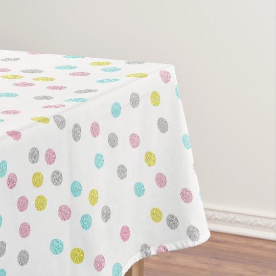 Pastel Polka Dots Tablecloth