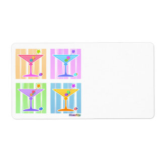 PASTEL POP ART MARTINIS