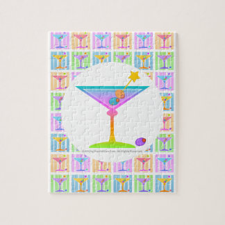 PASTEL POP ART MARTINIS JIGSAW PUZZLE