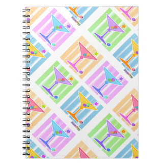PASTEL POP ART MARTINIS NOTEBOOKS