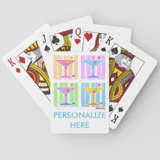 PASTEL POP ART MARTINIS PLAYING CARDS