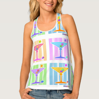 PASTEL POP ART MARTINIS TANK TOP