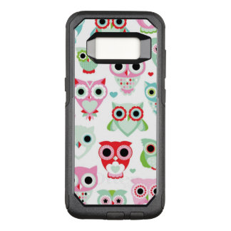 pastel powder color owl background OtterBox commuter samsung galaxy s8 case