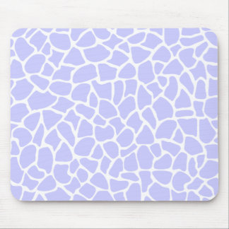 Pastel Purple Animal Print Giraffe Pattern Mouse Pad