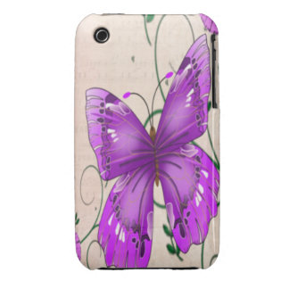 Pastel Purple Butterflies iPhone 3 Case
