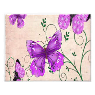 Pastel Purple Butterflies Photo Print