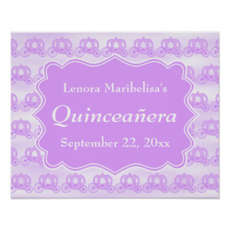 Pastel Purple Carriages Quinceanera Print
