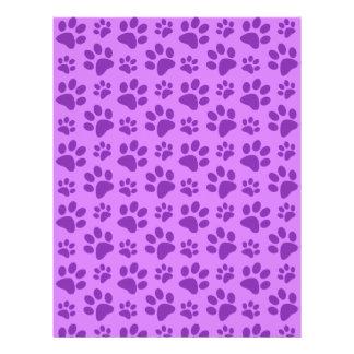 Pastel purple dog paw print flyers